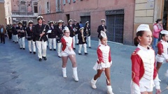 Marching Band in Italy Stock Footage