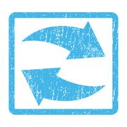 Exchange Arrows Icon Rubber Stamp Stock Illustration