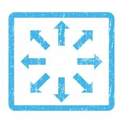 Explode Arrows Icon Rubber Stamp Stock Illustration