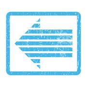 Stripe Arrow Left Icon Rubber Stamp Stock Illustration