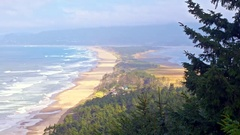 Iconic Ocean shore in Oregon by Pacific Coast Highway Stock Footage