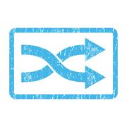 Shuffle Arrows Right Icon Rubber Stamp Stock Illustration