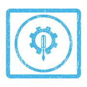 Engineering Icon Rubber Stamp Stock Illustration