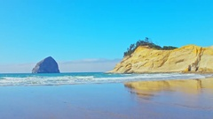 Iconic Cape Kiwanda beach in Oregon by Pacific Coast Stock Footage