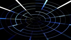 Luminous rays on the radar screen Stock Footage