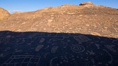 MoCo Tracking Timelapse of Ancient Native American Petroglyphs  Stock Footage
