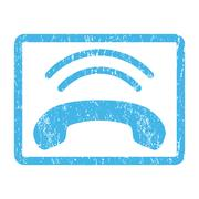 Phone Ring Icon Rubber Stamp Piirros