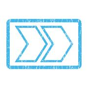Shift Right Icon Rubber Stamp Stock Illustration