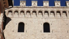 Monte dei Paschi di Siena, oldest surviving bank in the world, headquarters Stock Footage