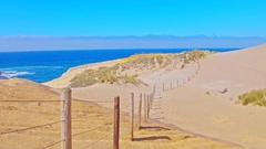 Iconic, sandy Cape Kiwanda beach in Oregon by Pacific Coast Stock Footage