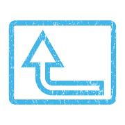 Turn Up Icon Rubber Stamp Stock Illustration