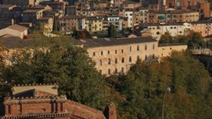 Tilt shot over Siena skyline Stock Footage