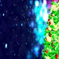 HD Loopable Background with nice christmas tree Stock Footage