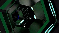 Hexxa visuals tunnel rotating with lights flashing on the beat Stock Footage