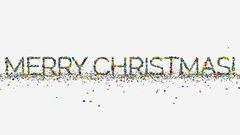 Motion graphics, animated Merry Christmas phrase, New Year and Christmas concept Stock Footage
