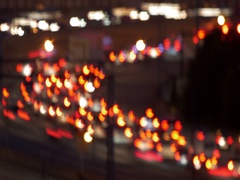 Atlanta Traffic Slow Shutter Soft Focus Time Lapse Stock Footage