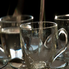 Tea Cup with Boiling Water HD Pro Stock Footage