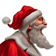 Santa-Claus-Message Stock Illustration