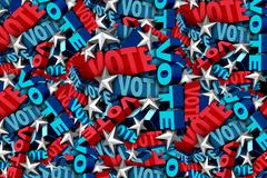 Voting-And-Vote-Background Stock Illustration