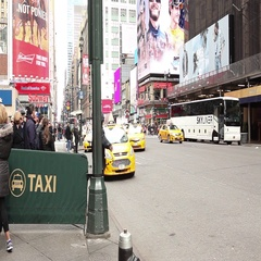 Taxi Stand Madison Square Garden Stock Footage