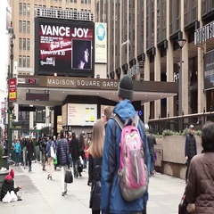Madison Square Garden - New York City Stock Footage