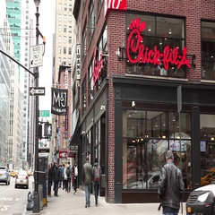 Chick-fil-A New York City Stock Footage