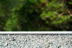 Road-bed transportation embankment background Stock Photos