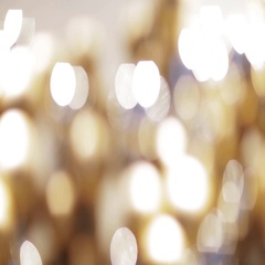 Golden christmas decoration or garland of beads Stock Footage