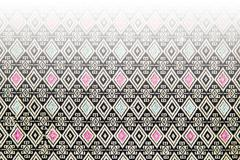 Thai fabric pattern texture, Backgrounds Stock Illustration