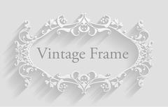 Vintage frame 2016 B1 Stock Illustration