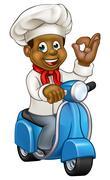 Black chef delivery service 2016 B3 Stock Illustration
