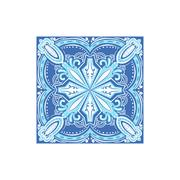Tin-glazed Azulejo Tile Portuguese Famous Symbol Stock Illustration