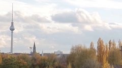 East Berlin cityscape Stock Footage