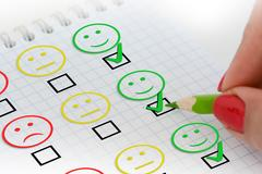 Customer satisfaction survey or questionnaire Stock Photos
