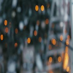 Christmas living room with stars and snow. Christmas tree with Christmas Stock Footage