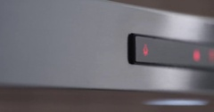 Metallic Oven Front Panel Stock Footage