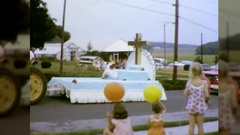 Evangelical Christian Missionary Women Parade 60s Vintage Film Home Movie  Stock Footage