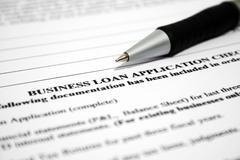 Business loan application Stock Photos