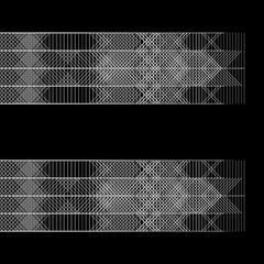 Flowing geometric pattern in graphic style white on black (FULL HD) Stock Footage