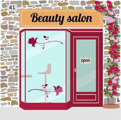 Beauty salon Stock Illustration
