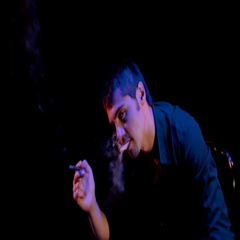 Smoking cigar man on black background Stock Footage