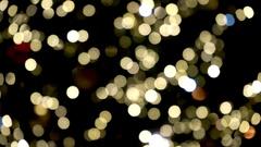 Defocus scene of Christmas tree lights. Stock Footage