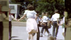 Kids Children Square Country Western Dance 1960s Vintage Film Home Movie  Stock Footage