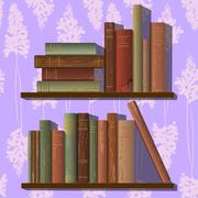 Rows of old books Stock Illustration