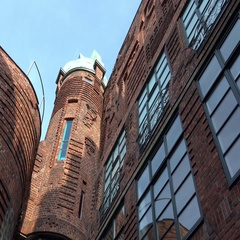 4k Bremen historic city architecture wall of building in famous Böttchertrasse Stock Footage