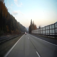Driving on highway Stock Footage