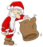 Santa claus with an empty bag Stock Illustration