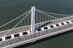 Bay Bridge Tower Aerial San Francisco Kuvituskuvat