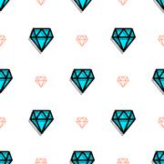 Background fashion diamond style pixel art seamless pattern. Stock Illustration