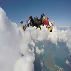 Skydiving hybrid Stock Footage